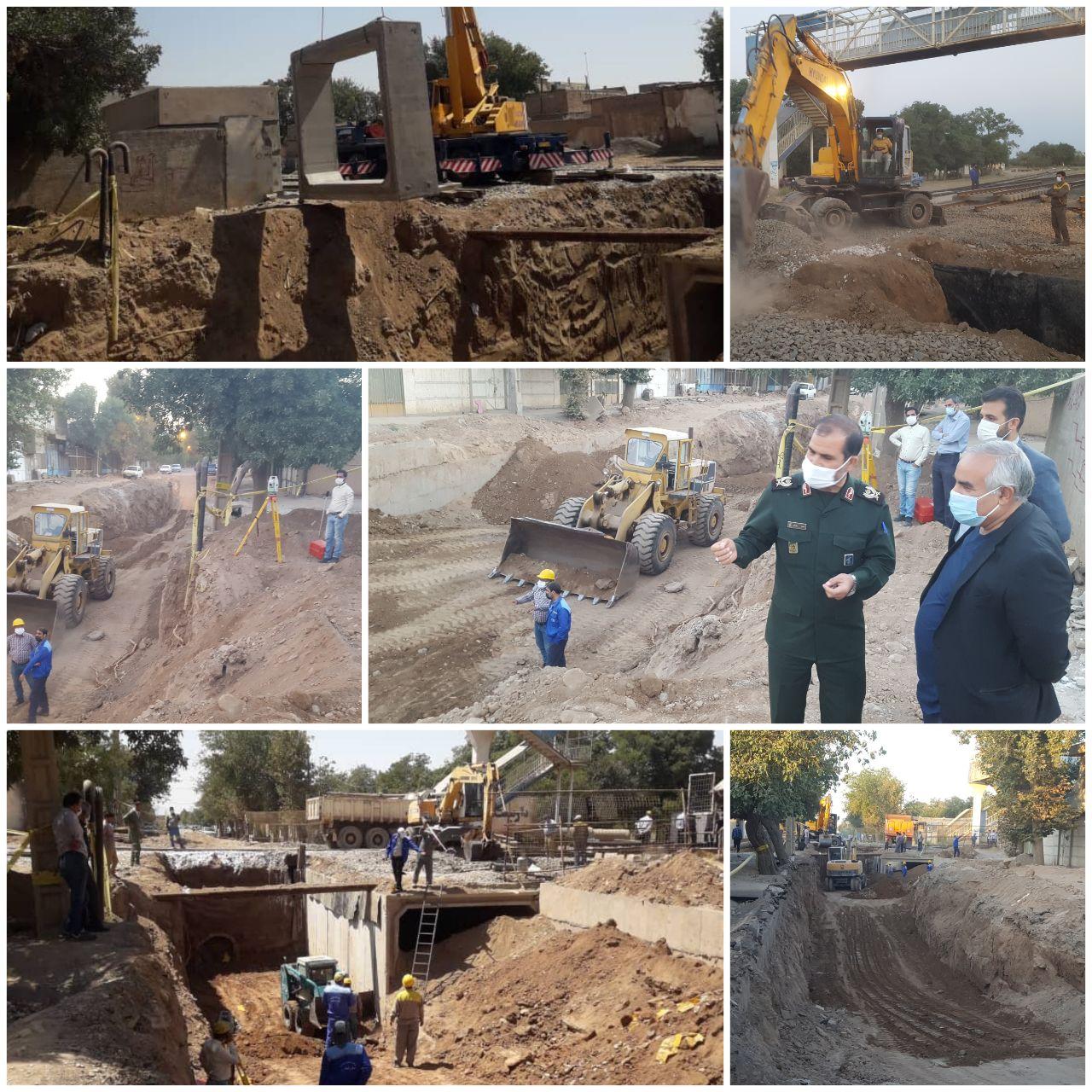 ⭕ شروع عملیات اجرایی باکس گذاری زیر گذر خیابان عمار یاسر (خط کاشمر قدیم) از ساعت ۳ بامداد یکم شهریور ماه ۱۴۰۰ آغاز شد