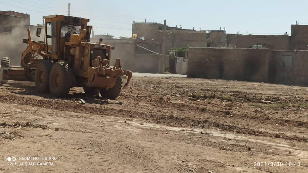 گزارشی از تسطیح و  پاکسازی شهر نیشابور از خاک و نخاله در یک ماه اخیر